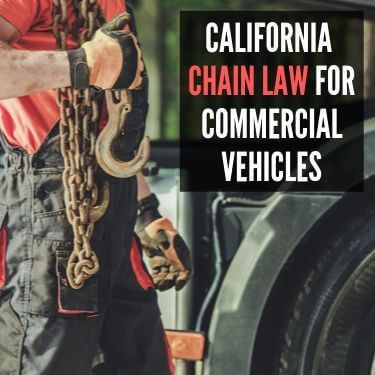 California Chain LAw for Commerical Vehicles