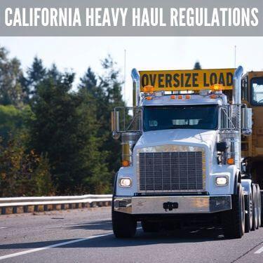 California Heavy Haul Restrictions