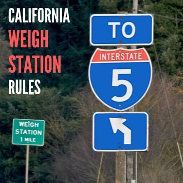 California Weigh Station Rules