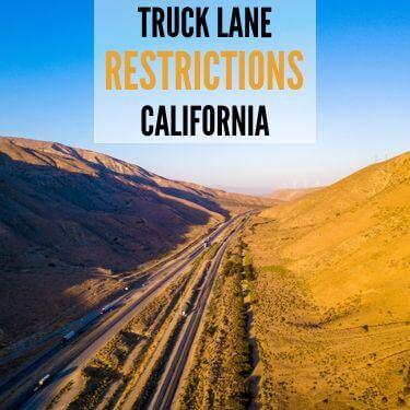 Truck Lane Resitrictions California
