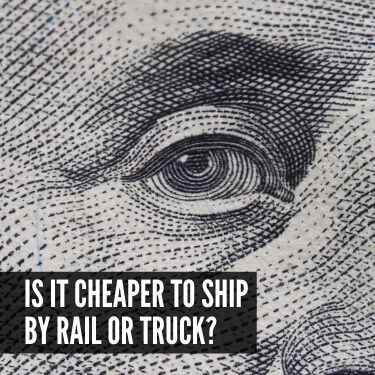 Is it Cheaper to Ship by Rail or Truck