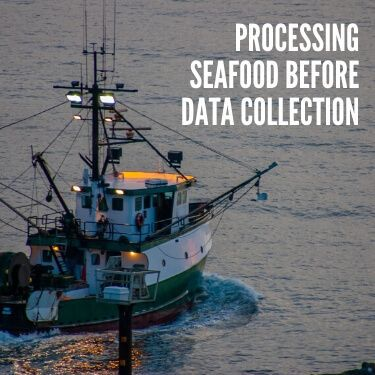 Processing Seafood Before Data Collection