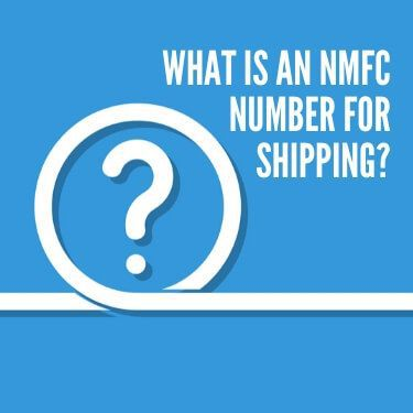 What is an NMFC Number for Shipping