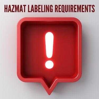 Hazmat Labeling Requirements