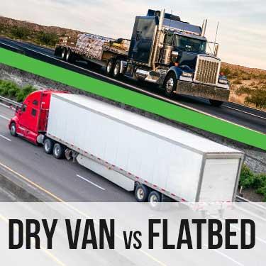 Dry van vs flatbed