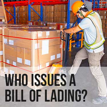 Who issues a bil of lading
