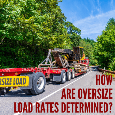 How are Oversize Load Rates Determined
