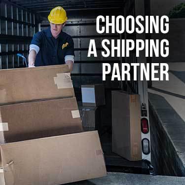 Choosing a Shipping Partner
