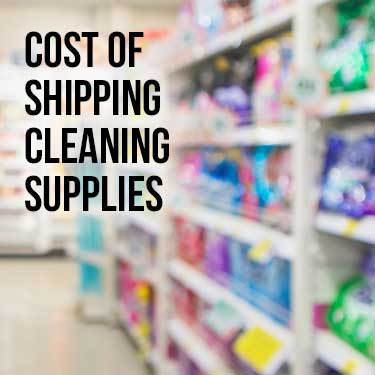Cost of Shipping Cleaning Supplies