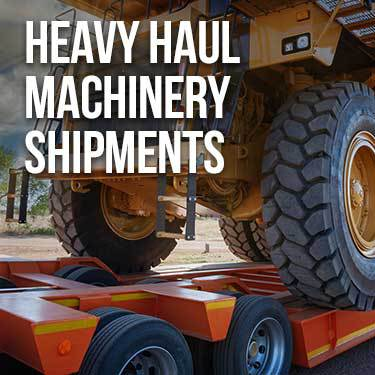 Heavy Haul Machinery Shipments