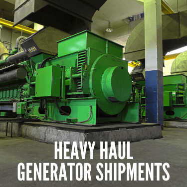 Heavy Haul Generator Shipments