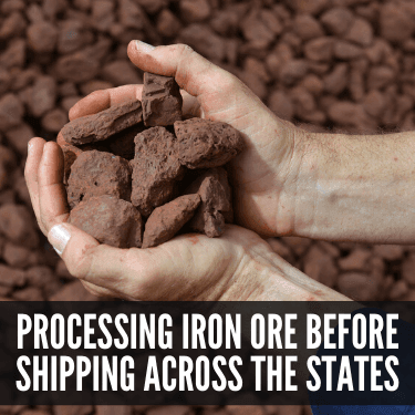 Processing Iron Ore before Shipping Across the States