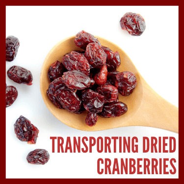 Transporting Dried Cranberries