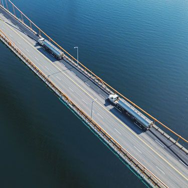 freight shipping across bridge