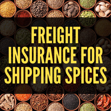 Freight Insurance for Shipping Spices