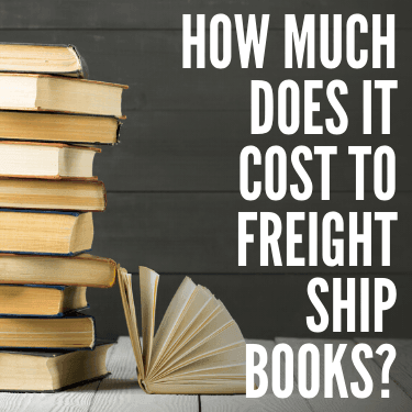 How Much does it Cost to Freight Ship Books