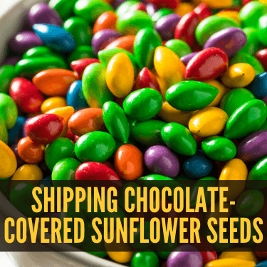 Shipping Chocolate-Covered Sunflower Seeds