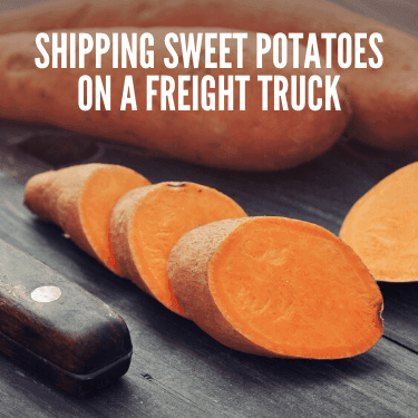 Shipping Sweet Potatoes on a Freight Truck