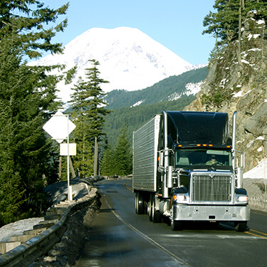 truckload shipping in the mountains all year round