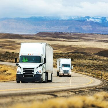 Shipping Freight From New Mexico Semi Trucks on Highway