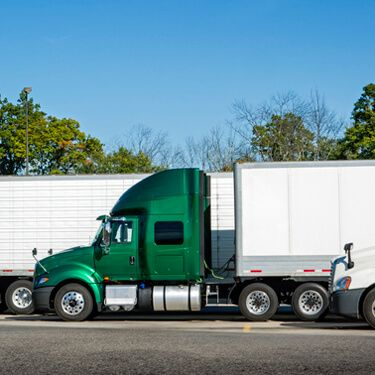 Shipping Freight from Maine to Florida Green Semi Truck