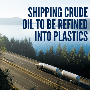 Shipping Crude Oil to be Refined into Plastics