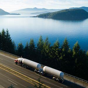 Hazmat Carrier truckload White Semi Tanker