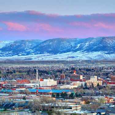 Shipping Freight from Wyoming Casper City Skyline