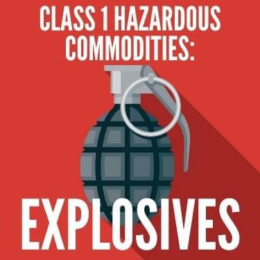 Class 1 Hazardous Commodities Explosives
