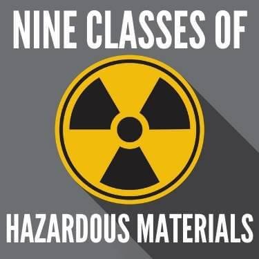 Nine Classes of Hazardous Materials