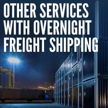 Other Services With Overnight Freight Shipping