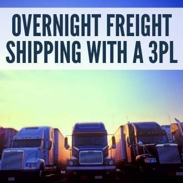 Overnight Freight Shipping With A 3PL