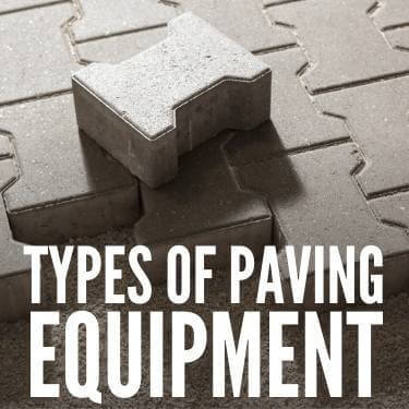 Types of Paving Equipment