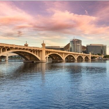 Freight Shipping from Arizona to Alaska - Panorama of Tempe and the Mill Avenue Bridge