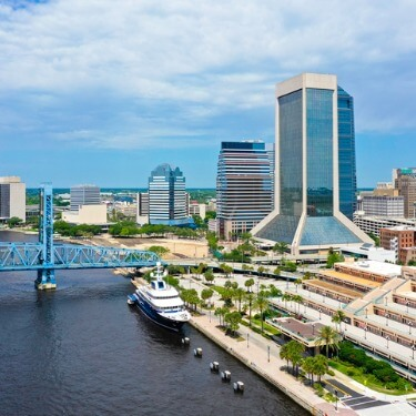 Freight Shipping from Maryland to Florida - Aerial View of Jacksonville, Florida