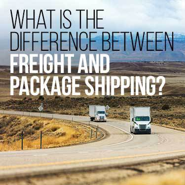 what is the difference between freight and package shipping