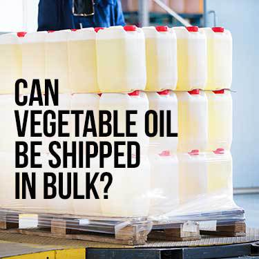 can vegetable oil be shipped in bulk